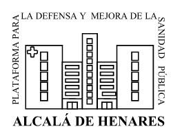 Logo de la Plataforma para la defensa y mejora de la Sanidad Pública de Alcalá de Henares