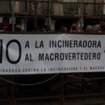 Pancarta contra la incineradora (Junio 2014)