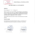 Documento entregado en registro del Ayuntamiento