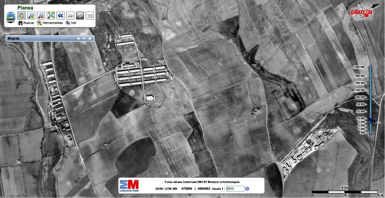 fotografía aérea El Sueño 1966-73